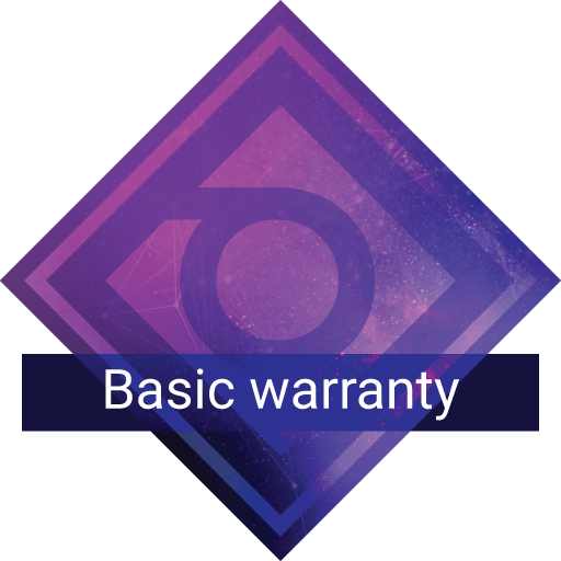 Basic warranty support plan badge