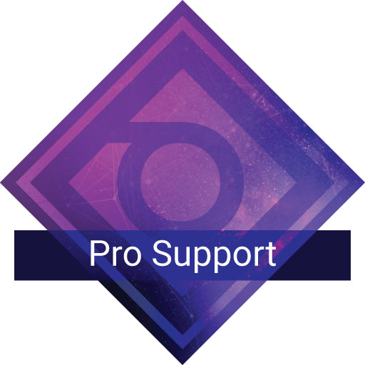 Pro. support plan badge