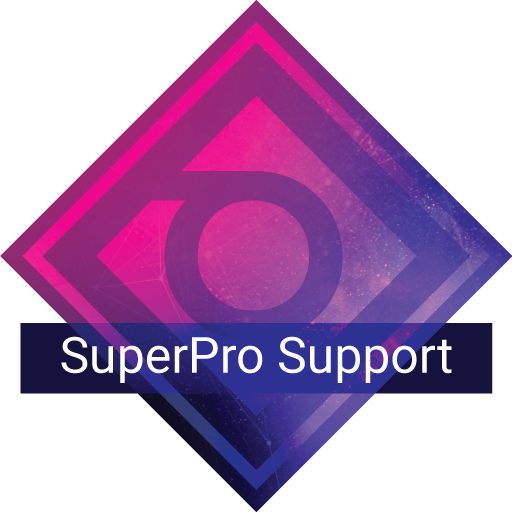 SuperPro support plan badge